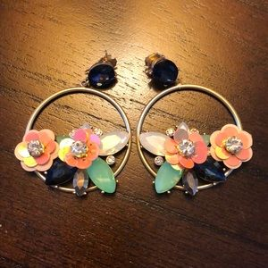 J. Crew Floral Statement Earring